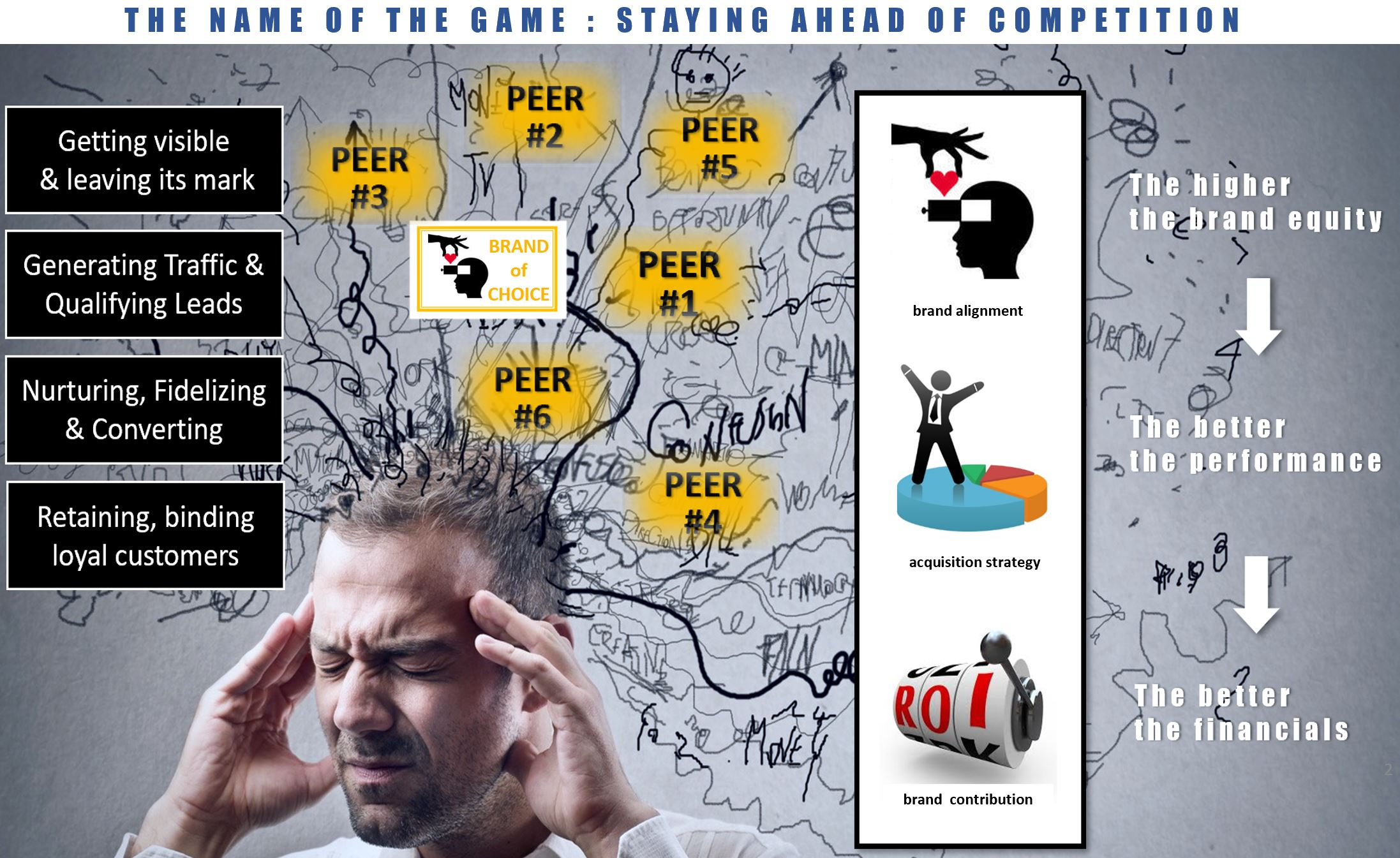 a man grabs his head with his hands and tries to concentrate and manage the flood of  competing information of voices-1